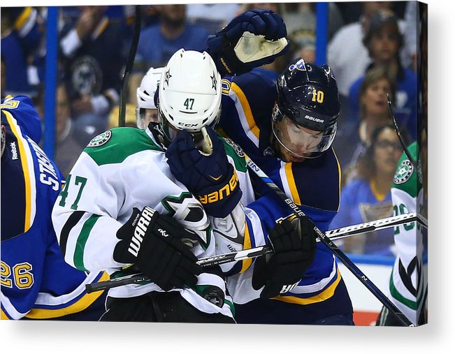 Playoffs Acrylic Print featuring the photograph Dallas Stars V St. Louis Blues - Game by Dilip Vishwanat