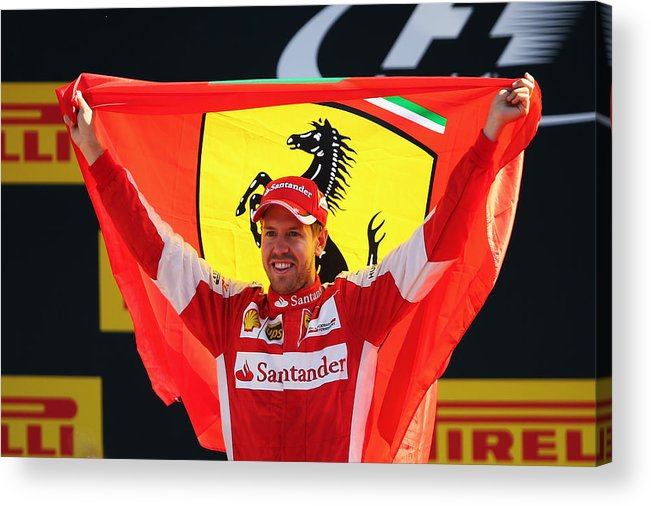 People Acrylic Print featuring the photograph F1 Grand Prix of Italy by Bryn Lennon