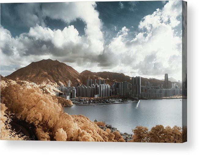 Tranquility Acrylic Print featuring the photograph Hong Kong by D3sign