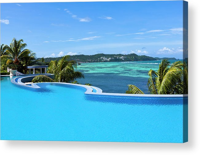 Scenics Acrylic Print featuring the photograph Infinity Swimming Pool by 35007
