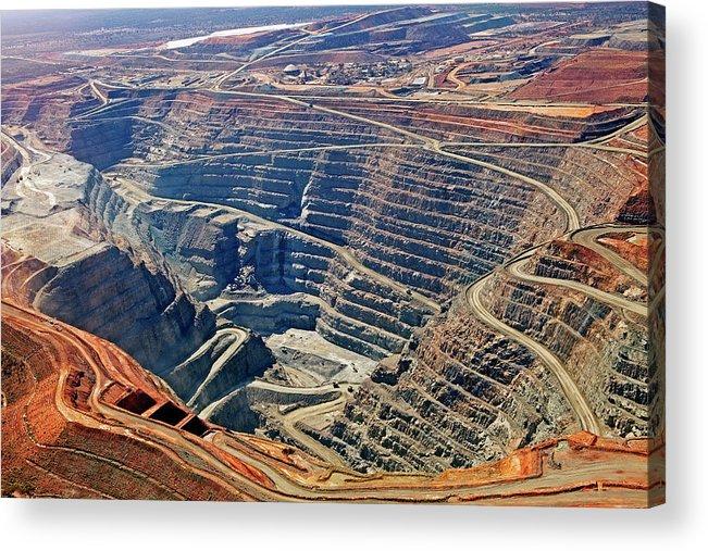 Mineral Acrylic Print featuring the photograph Kcgm. Gold Mine,western Australia by John W Banagan