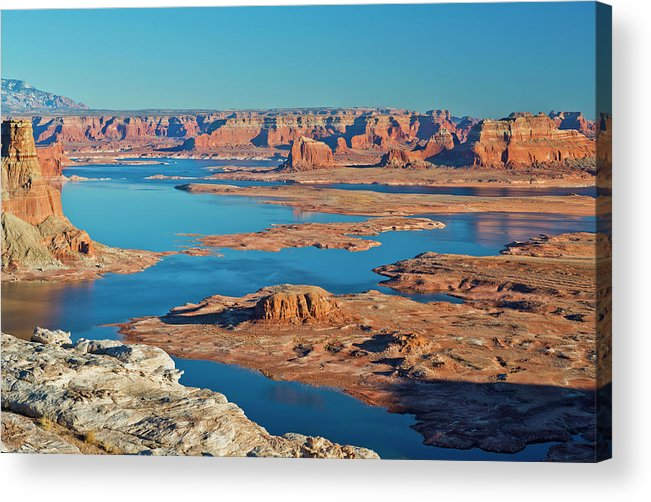 Tranquility Acrylic Print featuring the photograph Lake Powell by Chen Su