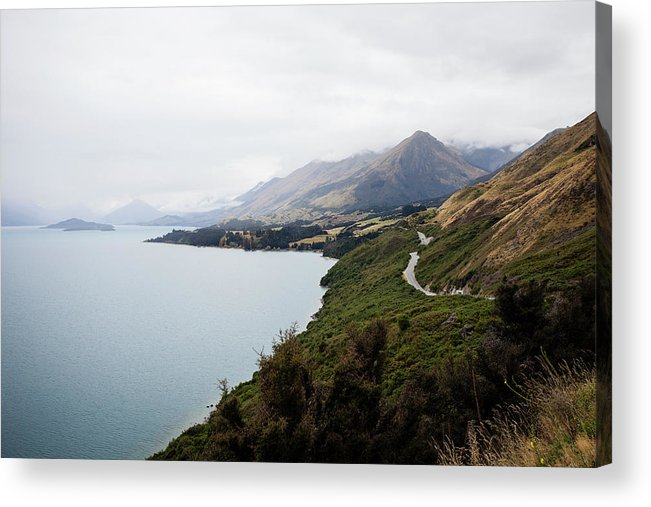 Tranquility Acrylic Print featuring the photograph Lake Wakatipu by Claire Takacs