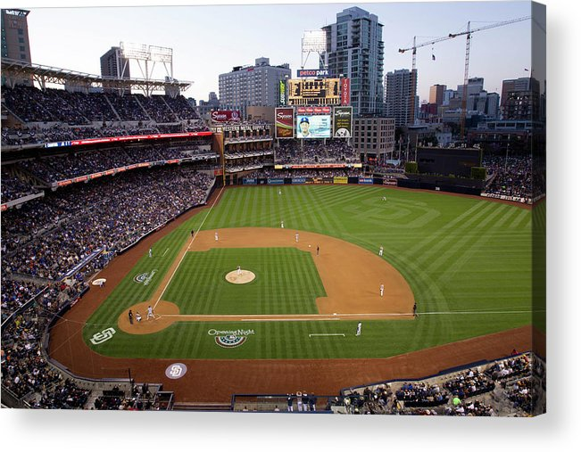 California Acrylic Print featuring the photograph Los Angeles Dodgers V. San Diego Padres by Rob Leiter