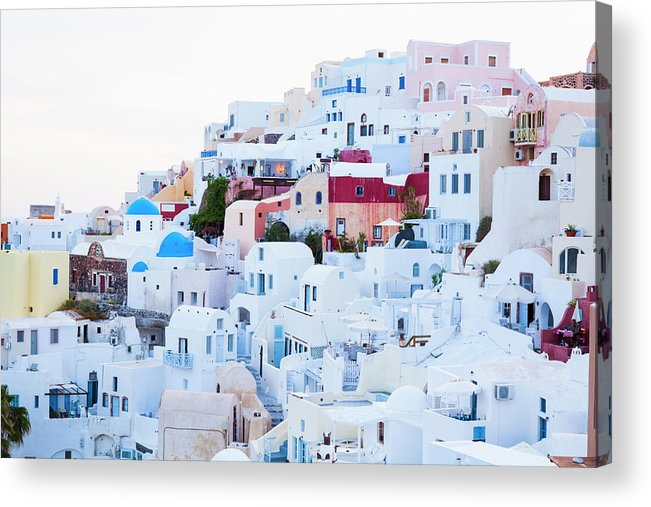 Tranquility Acrylic Print featuring the photograph Oia by Jorg Greuel