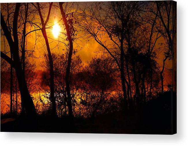 Sunrise Acrylic Print featuring the photograph Rekindle by Mitch Cat