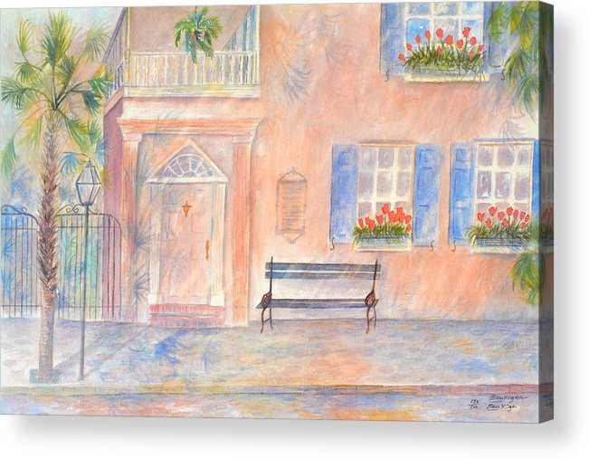 Charleston Acrylic Print featuring the painting Sunday Morning in Charleston by Ben Kiger