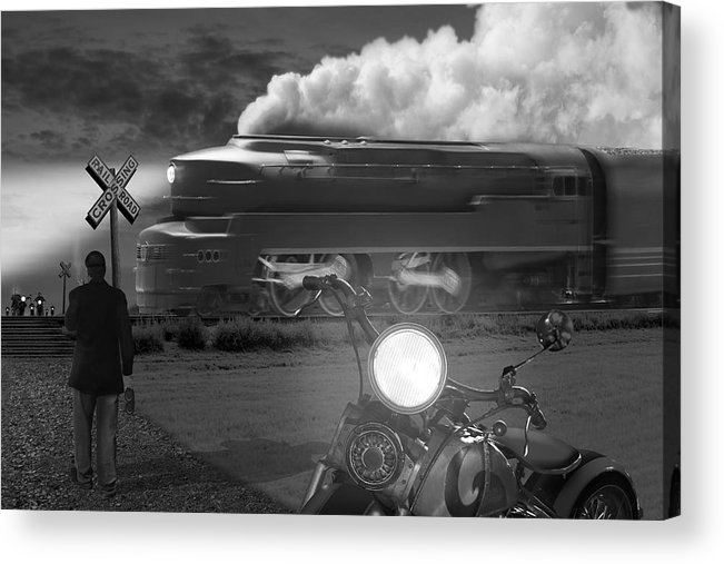 Transportation Acrylic Print featuring the photograph The Wait by Mike McGlothlen