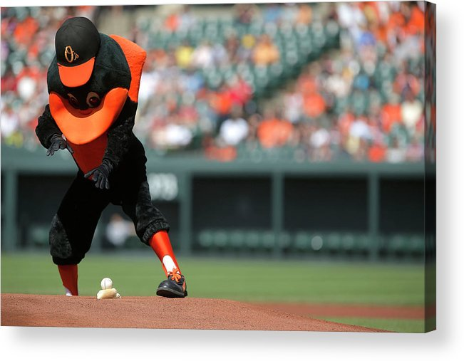 American League Baseball Acrylic Print featuring the photograph Toronto Blue Jays V Baltimore Orioles by Jonathan Ernst