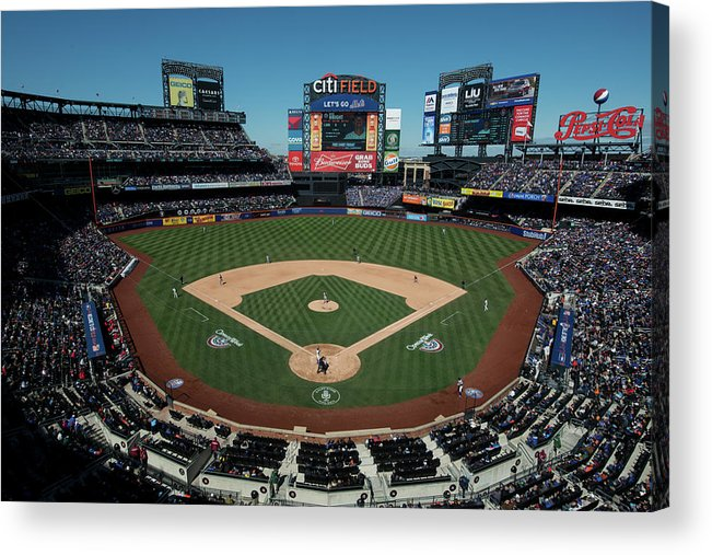 East Acrylic Print featuring the photograph Washington Nationals V. New York Mets by Rob Tringali