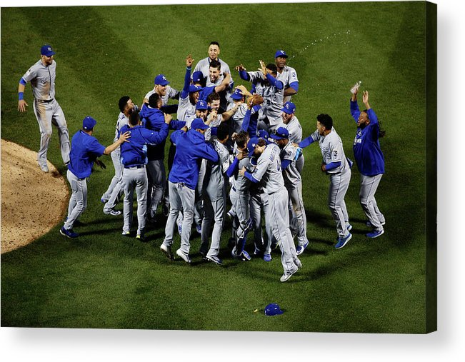American League Baseball Acrylic Print featuring the photograph World Series - Kansas City Royals V New by Tim Bradbury