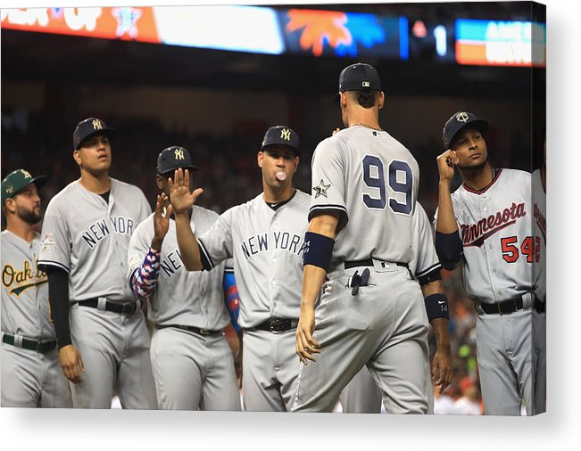 People Acrylic Print featuring the photograph 88th MLB All-Star Game by Mike Ehrmann