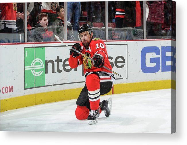 Patrick Sharp Acrylic Print featuring the photograph Dallas Stars V Chicago Blackhawks by Bill Smith