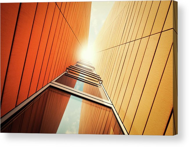 Corporate Business Acrylic Print featuring the photograph Futuristic Office Building by Ppampicture