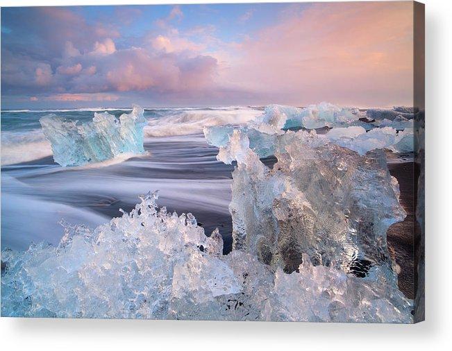 Scenics Acrylic Print featuring the photograph Iceland, Skaftafell, Jokulsarlon by Travelpix Ltd