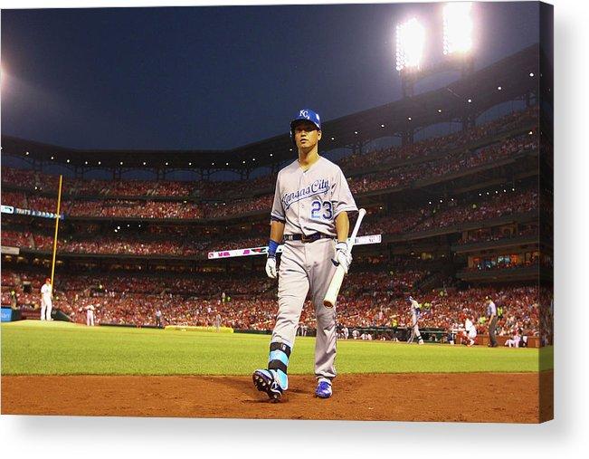 American League Baseball Acrylic Print featuring the photograph Kansas City Royals V St. Louis Cardinals by Dilip Vishwanat