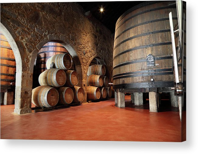 Fermenting Acrylic Print featuring the photograph Porto Wine Cellar by Vuk8691