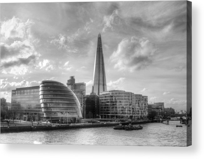 The Shard Acrylic Print featuring the photograph The Shard and City Hall by Chris Day