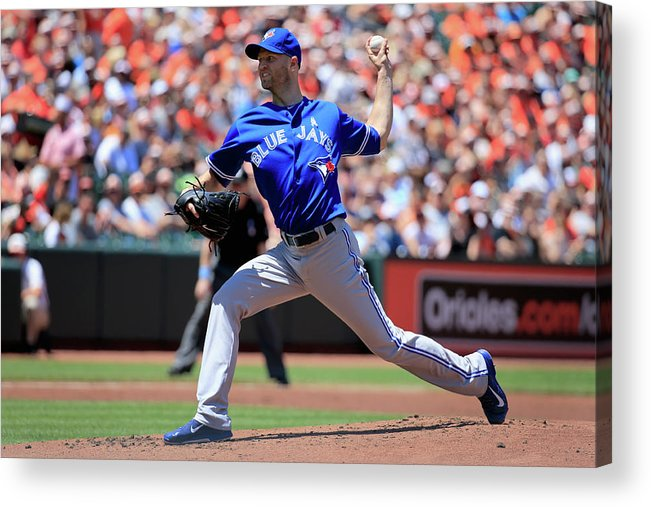 American League Baseball Acrylic Print featuring the photograph Toronto Blue Jays V Baltimore Orioles by Rob Carr