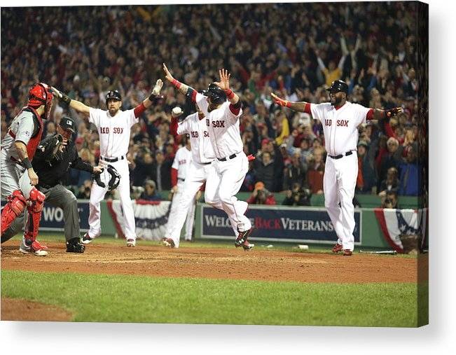 Playoffs Acrylic Print featuring the photograph World Series - St Louis Cardinals V by Rob Carr