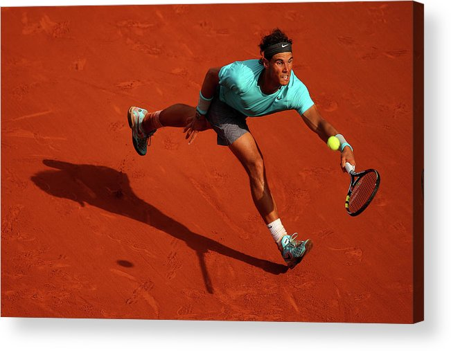 Tennis Acrylic Print featuring the photograph 2014 French Open - Day Fifteen by Clive Brunskill