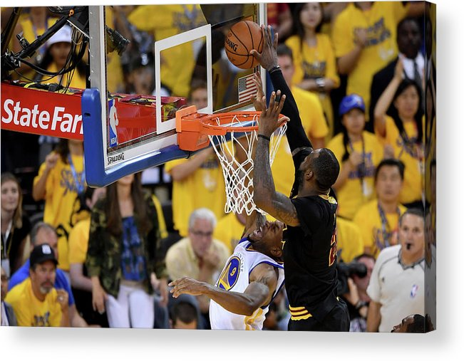 Playoffs Acrylic Print featuring the photograph 2016 Nba Finals - Game Seven by Thearon W. Henderson