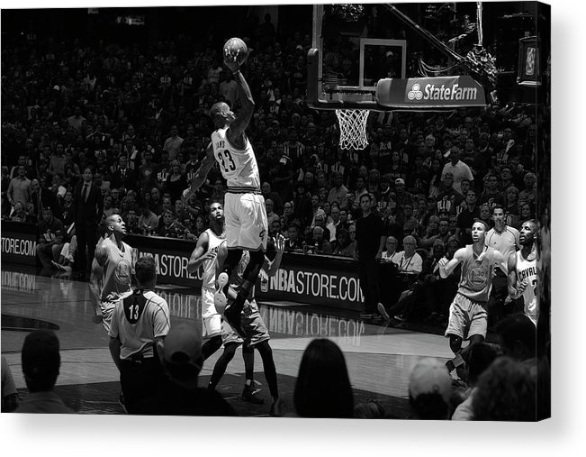 Nba Pro Basketball Acrylic Print featuring the photograph 2016 Nba Finals - Game Three by Jesse D. Garrabrant