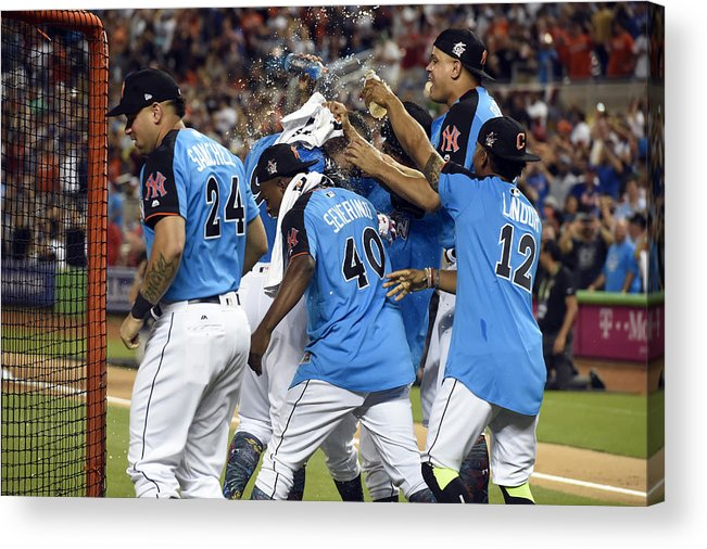 American League Baseball Acrylic Print featuring the photograph 2017 T-Mobile Home Run Derby by LG Patterson