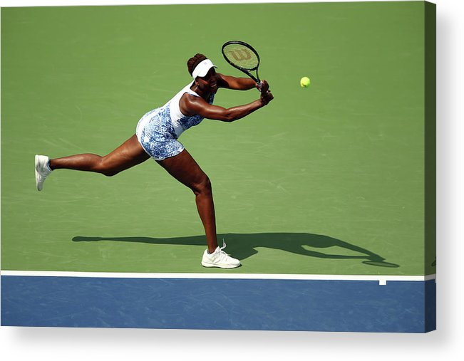 Monica Puig Acrylic Print featuring the photograph 2015 U.s. Open - Day 1 by Clive Brunskill