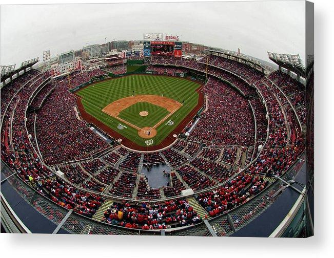 National League Baseball Acrylic Print featuring the photograph Atlanta Braves V. Washington Nationals by Mitchell Layton