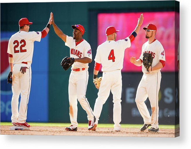 People Acrylic Print featuring the photograph Baltimore Orioles V Cleveland Indians by Jason Miller