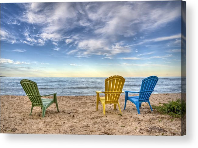 Chairs Acrylic Print featuring the photograph 3 Chairs by Scott Norris