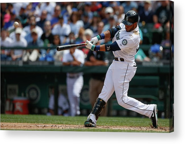 American League Baseball Acrylic Print featuring the photograph Cleveland Indians V Seattle Mariners by Otto Greule Jr