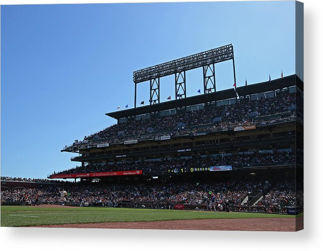 San Francisco Acrylic Print featuring the photograph Colorado Rockies V. San Francisco Giants by Brad Mangin