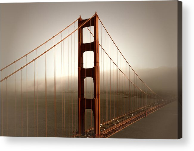 America Acrylic Print featuring the photograph Lovely Golden Gate Bridge by Melanie Viola