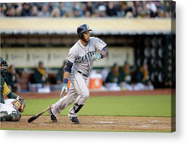 American League Baseball Acrylic Print featuring the photograph Seattle Mariners V Oakland Athletics by Ezra Shaw