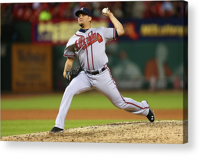 Relief Pitcher Acrylic Print featuring the photograph Atlanta Braves V St. Louis Cardinals by Dilip Vishwanat