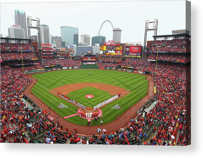 St. Louis Cardinals Acrylic Print featuring the photograph Cincinnati Reds V St. Louis Cardinals by Dilip Vishwanat