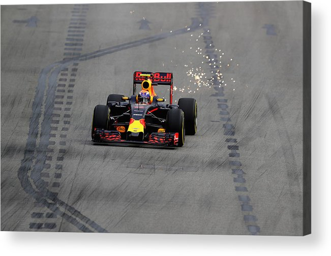 Formula One Grand Prix Acrylic Print featuring the photograph F1 Grand Prix of Singapore - Qualifying by Clive Mason