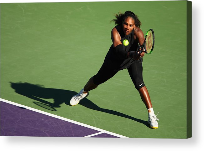 Tennis Acrylic Print featuring the photograph Miami Open 2018 - Day 3 by Clive Brunskill