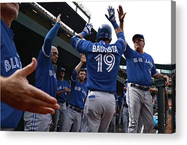 American League Baseball Acrylic Print featuring the photograph Toronto Blue Jays V Baltimore Orioles by Patrick Smith