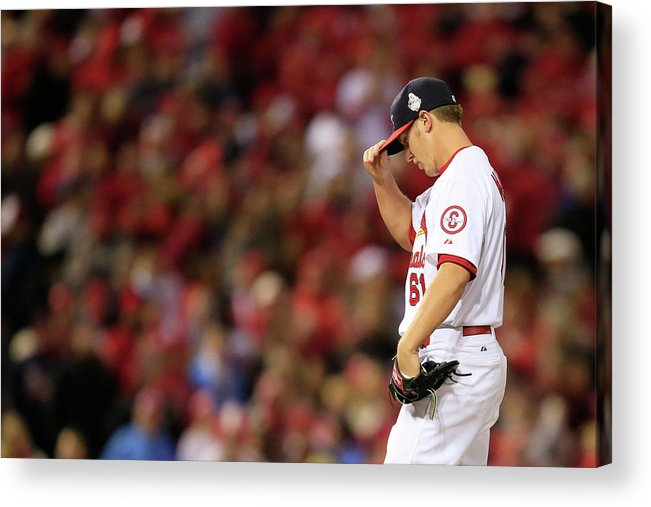 St. Louis Cardinals Acrylic Print featuring the photograph World Series - Boston Red Sox V St by Dilip Vishwanat