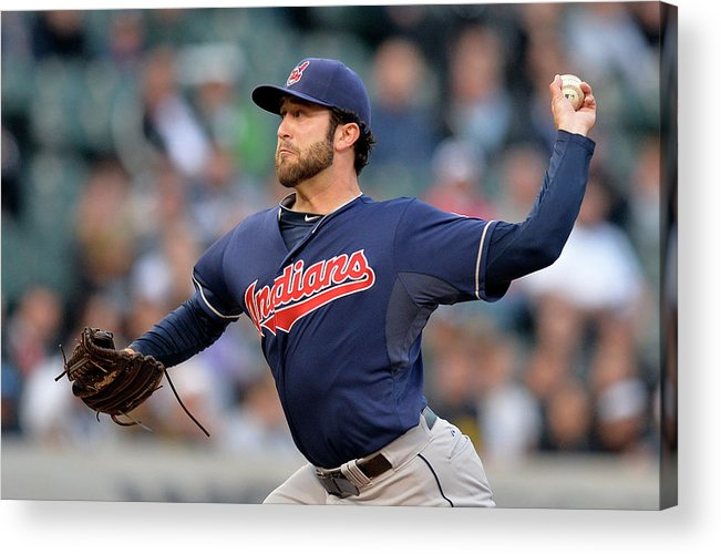American League Baseball Acrylic Print featuring the photograph Cleveland Indians V Chicago White Sox by Brian Kersey