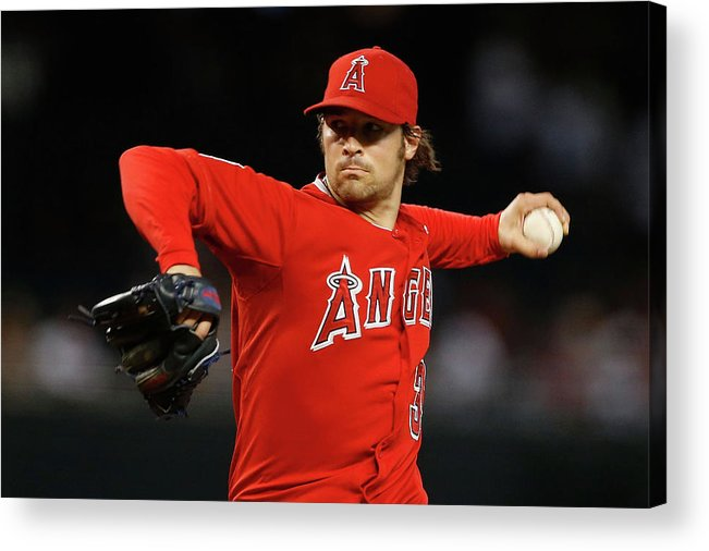 People Acrylic Print featuring the photograph Los Angeles Angels Of Anaheim V Arizona by Christian Petersen