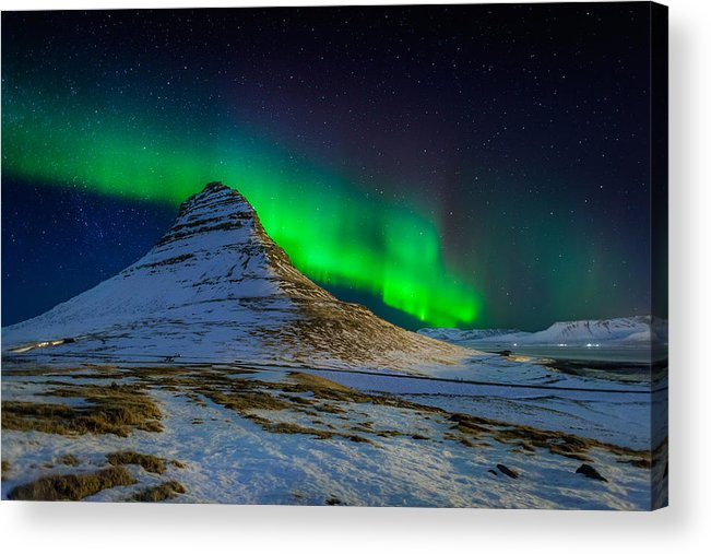 Photography Acrylic Print featuring the photograph Aurora Borealis Or Northern Lights by Panoramic Images
