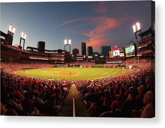 St. Louis Cardinals Acrylic Print featuring the photograph Cincinnati Reds V St Louis Cardinals by Dilip Vishwanat