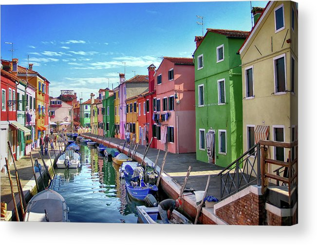 Tranquility Acrylic Print featuring the photograph A Tour Of Burano by Diego Gutierrez