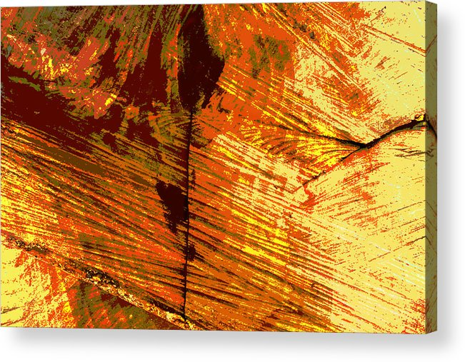 Abstract Acrylic Print featuring the photograph Abstract Wood Grain by John Lautermilch