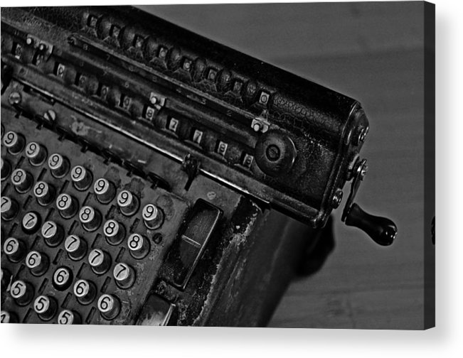 Office Acrylic Print featuring the photograph Adding Machine Two by Todd Hartzo