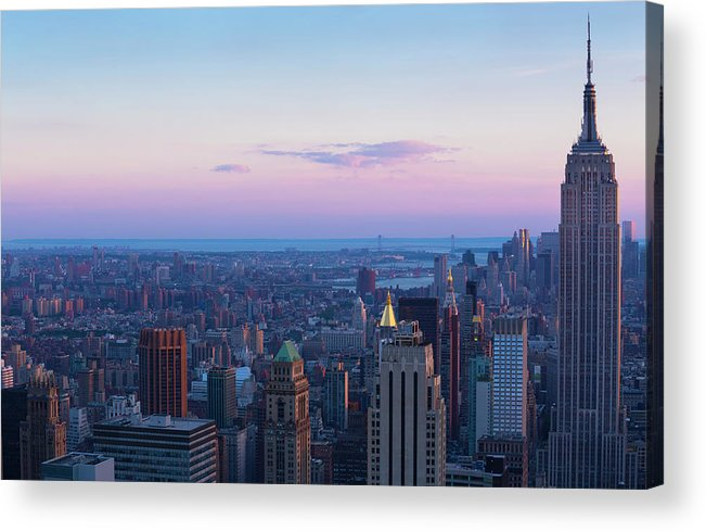 Tranquility Acrylic Print featuring the photograph Aerial View Of Empire State And Midtown by Future Light